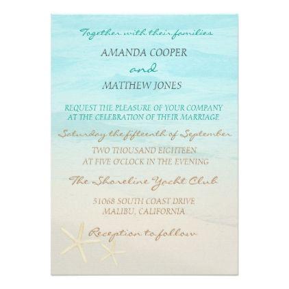 Ocean Beach Wedding Invitation weddinginvitations wedding