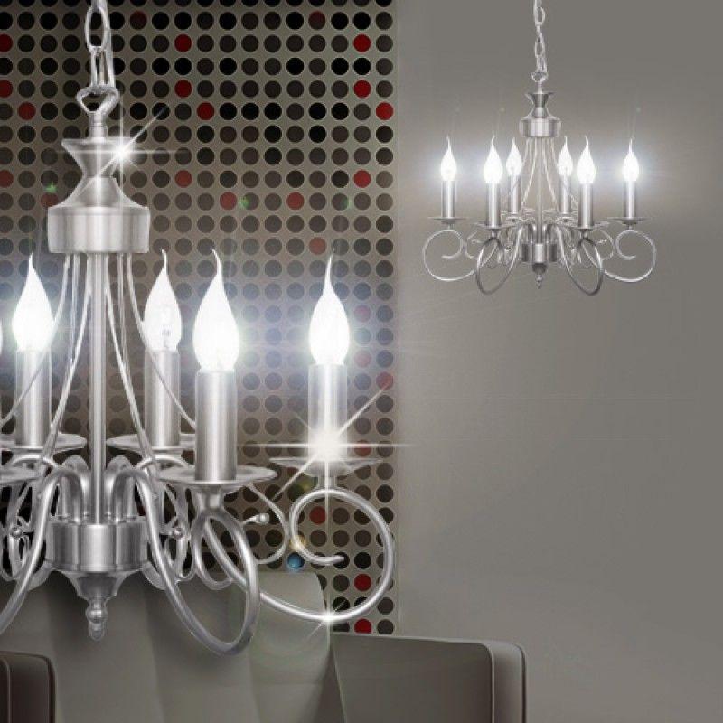 Vlaams Kroonluchter O450mm Zilver Roestvrij Staal Lamp Luster Kroonlamp Kroonlicht Lampen Metall