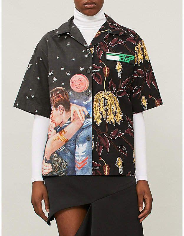 9b52a7ef PRADA Impossible True Love regular-fit cotton shirt | Products ...