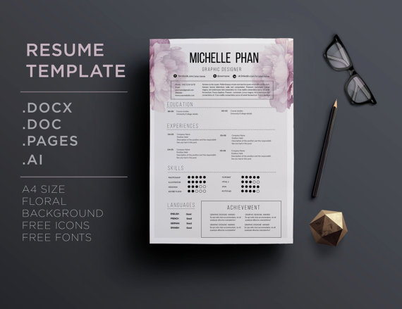 Elegant  Page Cv Template  Resume Template By Chictemplates  Cv