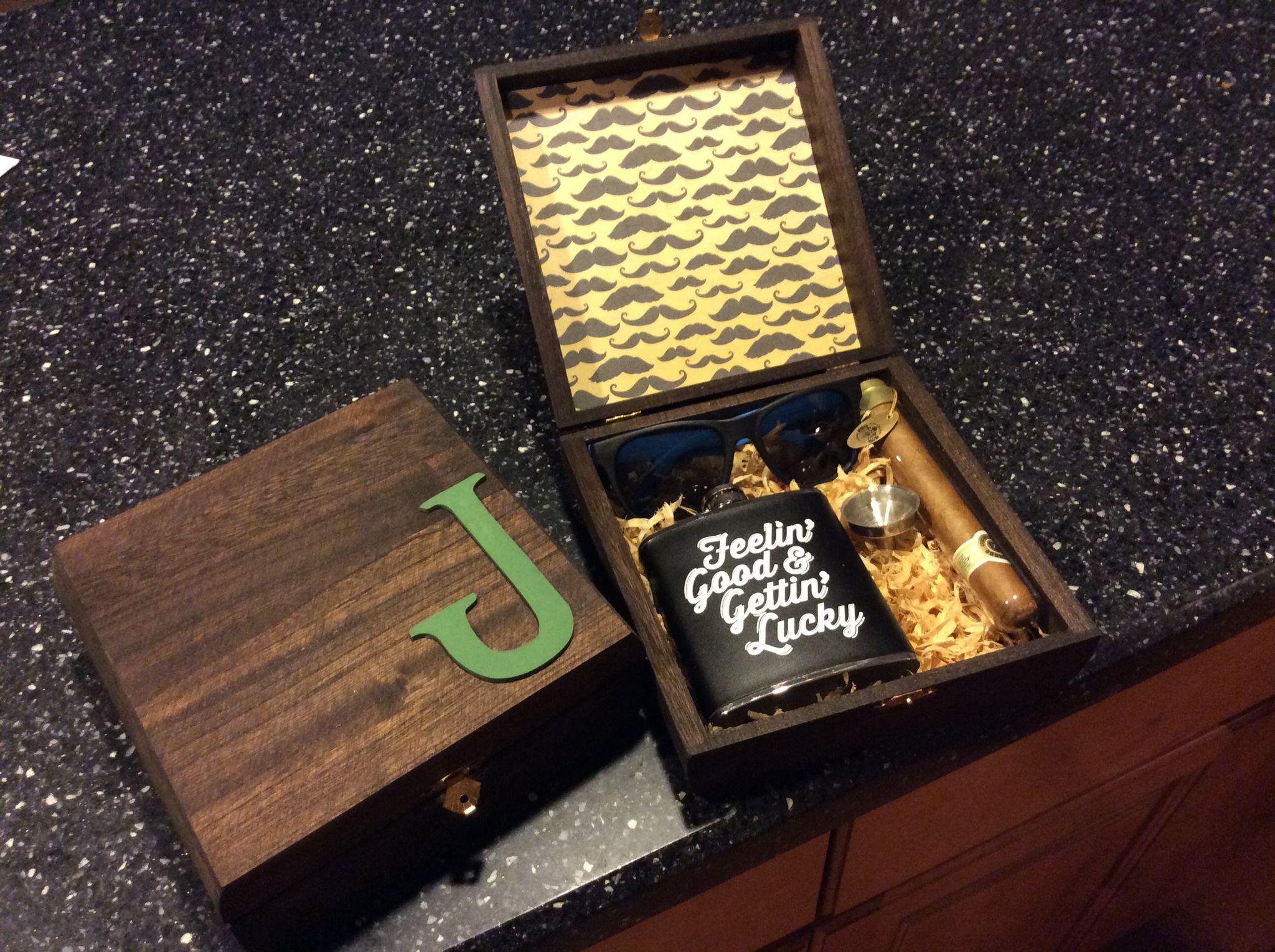 diy groomsmen gift box