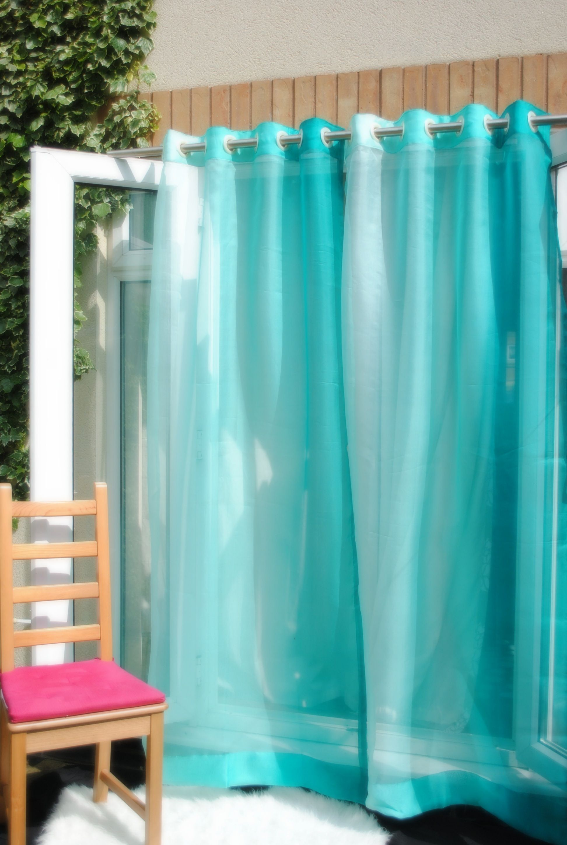 Ombre Curtains Beachy Blue Inspired By The Beaches Of Greece ,this Handmade  Sheer Curtains