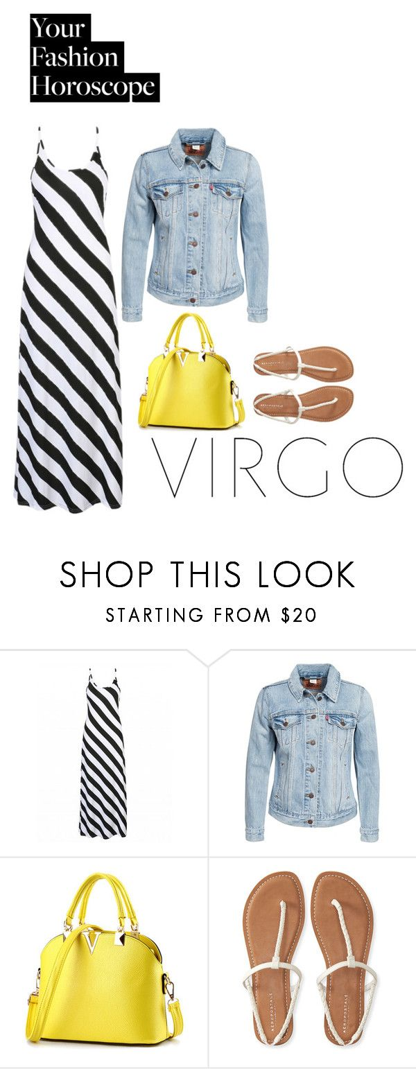 """Chic on budget!"" by jnyaface ❤ liked on Polyvore featuring Levi's, Aéropostale, fashionhoroscope and stylehoroscope"