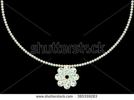 Beautiful necklace made with rhinestones or diamonds with jewelry