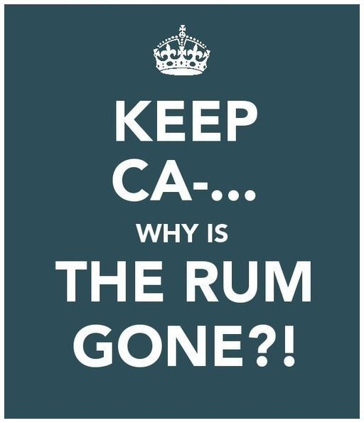 Why is the rum gone? lmfao