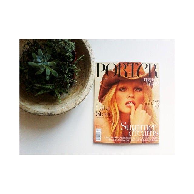 jeaniemicheel's photo on Instagram summer inspiration | @PORTERmagazine #portermagazine LOVE the spread of @lara_stone #larastone by @inezvinhood #summerread #summerdreams #summerescape
