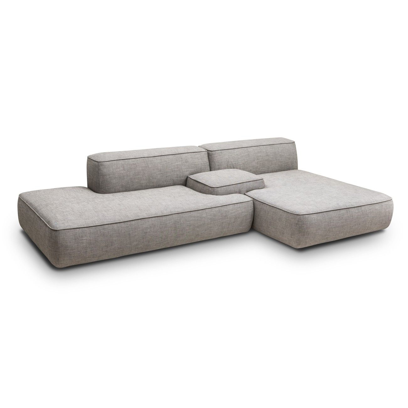 Modular Furniture Sofa: Modular Chaise Sofa Vitra Soft Modular Sofa Three Seater