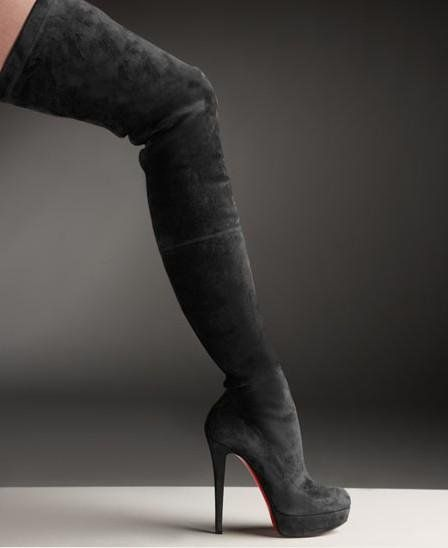 fdd2251afec Christian Louboutin Suede Over The Knee Platform Boot