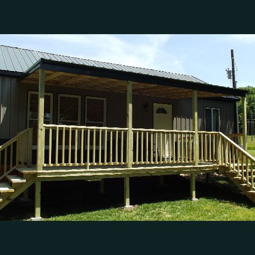 Nice Porch Built On Backside Of 20x40 Deluxe Cabin