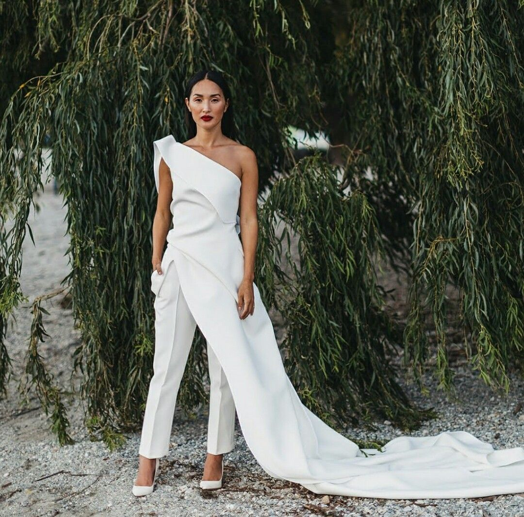 22+ Off the shoulder wedding jumpsuit with lace train ideas in 2021