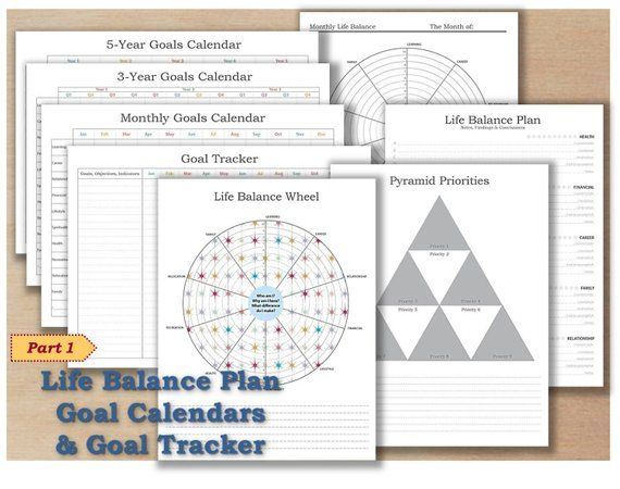 Productivity planner PDF template 2018 Undated calendar bullet