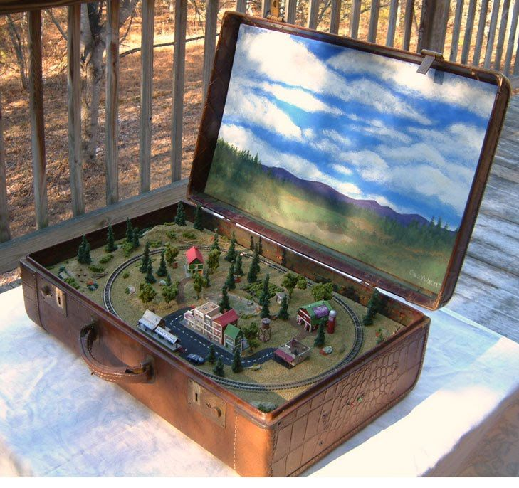 Dioramas and Clever Things: Suitcase trains.