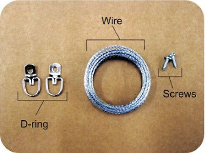 How To Install A Picture Frame Wire Hanging Kit Displays
