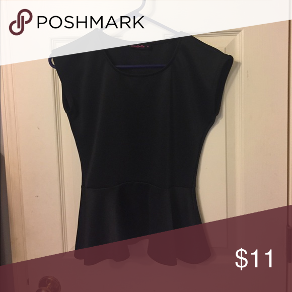 Black pendulum Blouse Solid black pendulum tank top blouse. Spandex material. Annabelle Tops Tank Tops