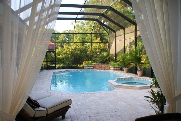 Add Curtains For Pool Enclosure Outdoor Living