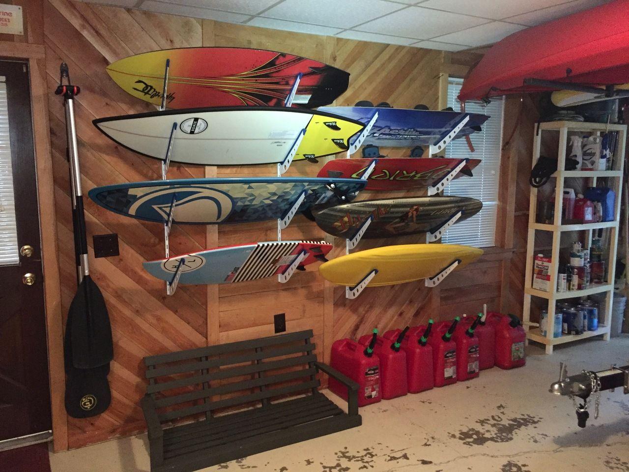 Wakeboard Surfboard Storage Racks For The Garage Wakesurfing