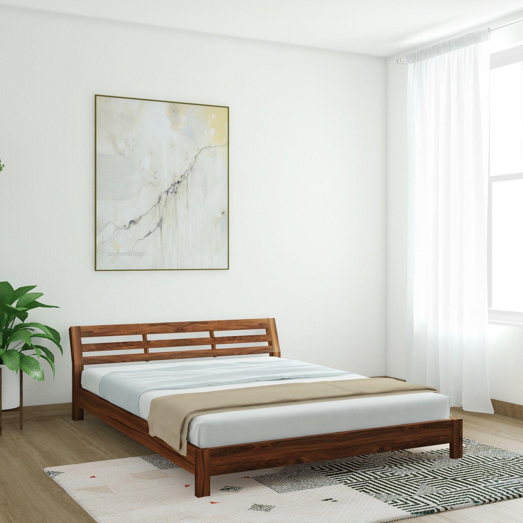 Best Vintej Home Hugo Sheesham Solid Wood Queen Bed Price In 640 x 480