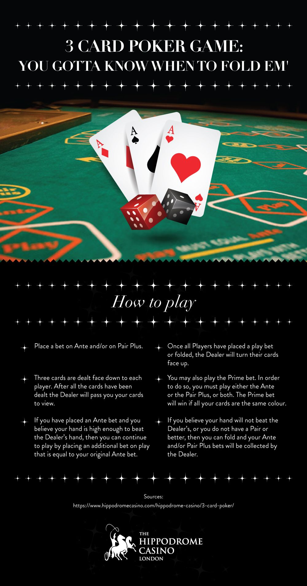 A fast and exciting poker game the object is to get a