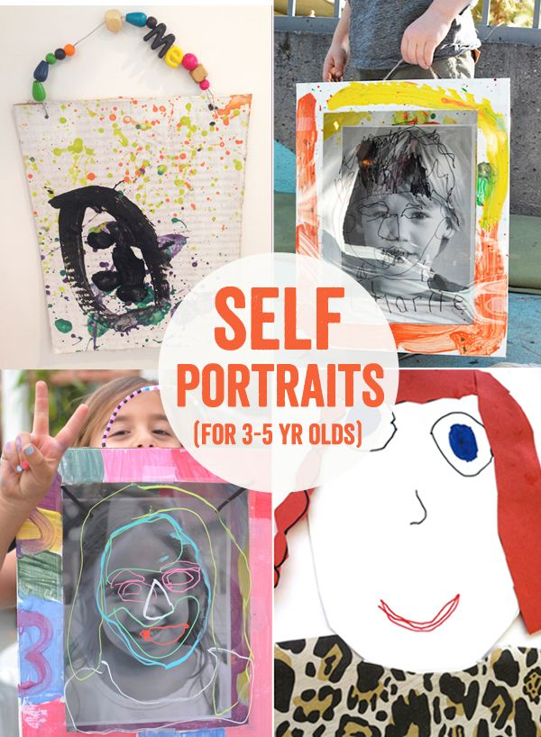 4 Ways To Make Self Portraits With 3 5 Year Olds