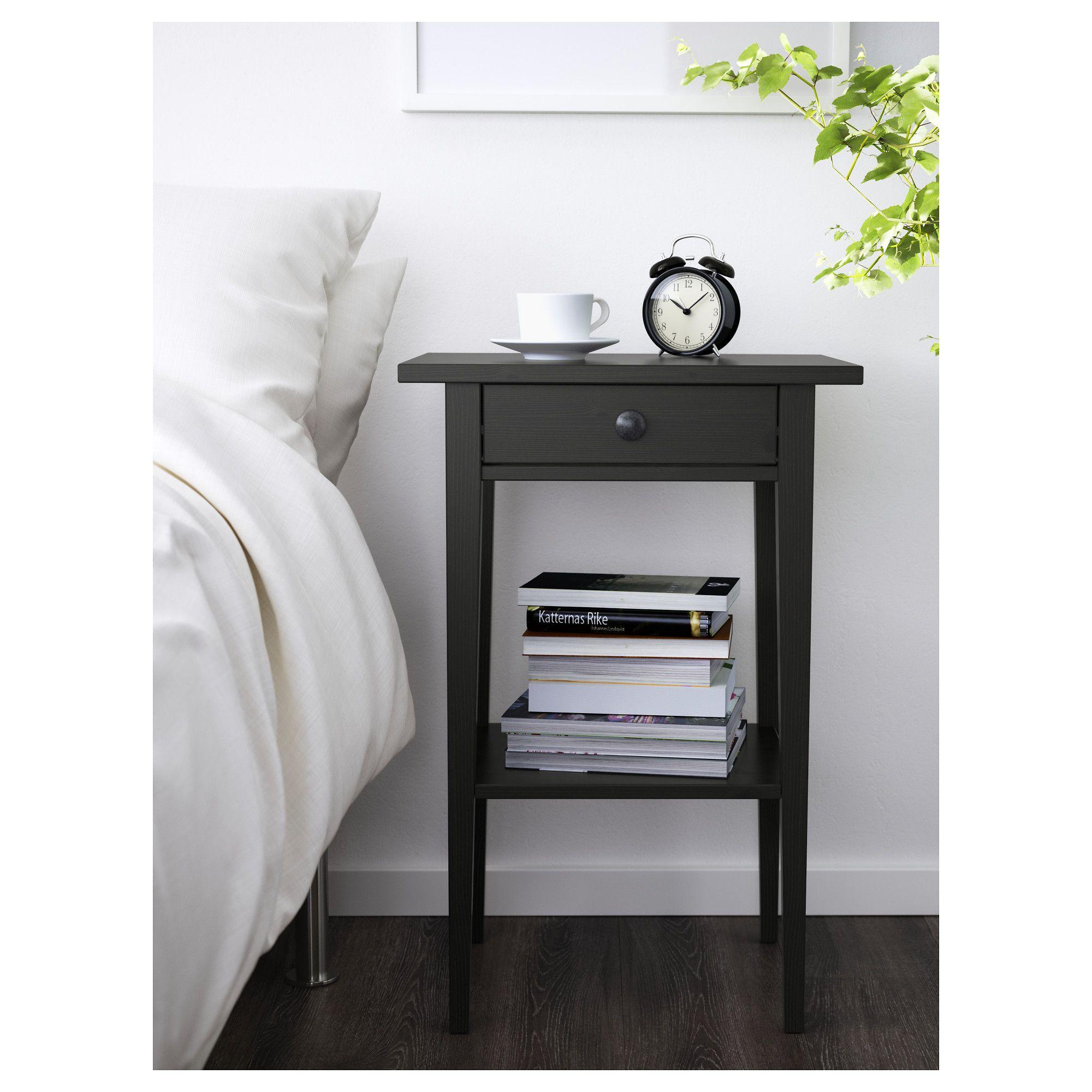 IKEA - HEMNES Nightstand Black-brown