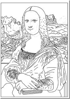 Leonardo Da Vinci para nios  DIBUJOS PARA COLOREAR  BLOG DE LOS