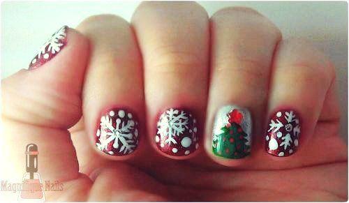Cute Christmas Nail Art Design For Short Nails Girls Christmas