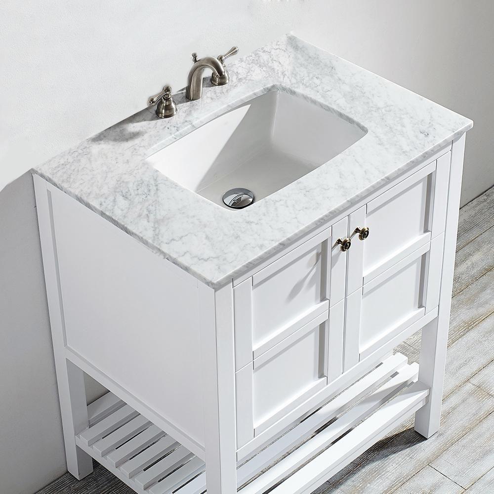 Vanity Art Rochefort 24 In W X 22 In D X 35 In H Bath Vanity In Grey With Vanity Top In White In 2020 Single Bathroom Vanity Bathroom Vanity 24 Inch Bathroom Vanity