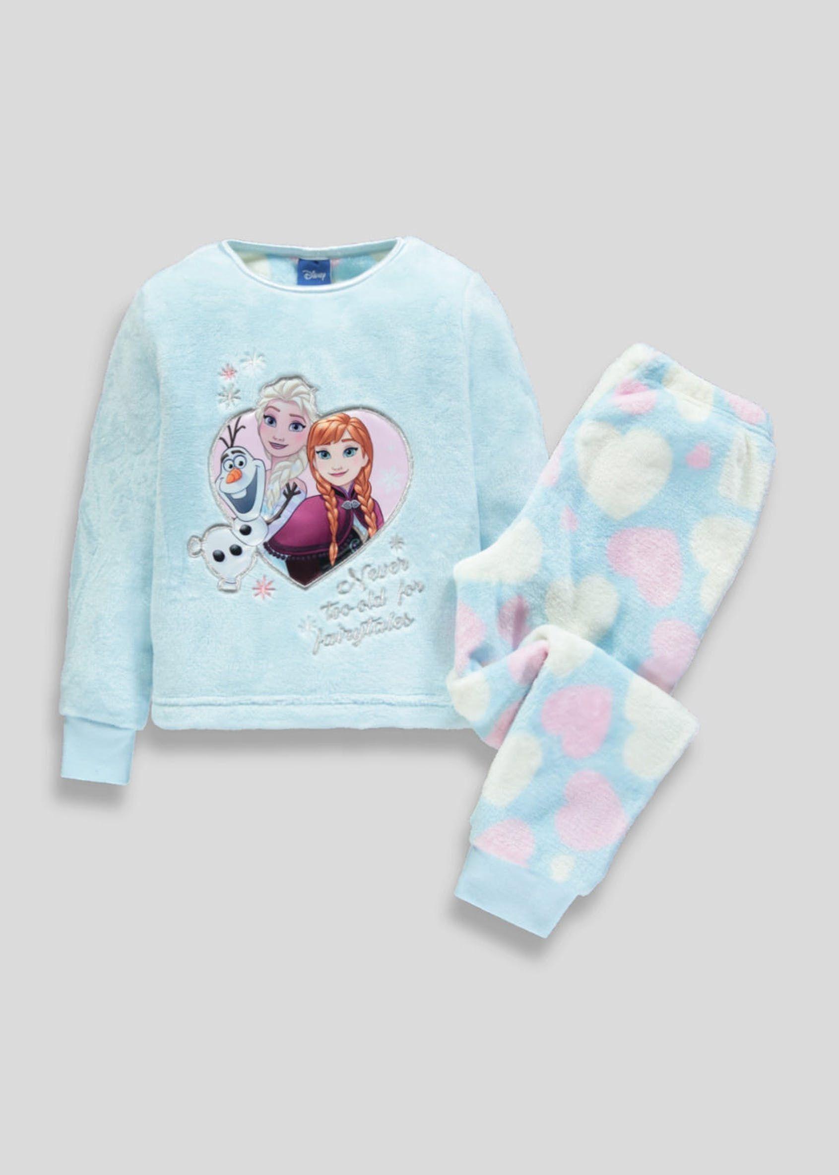 Elsa Disney Frozen Girls Blue Fleece Sleep /& Lounge Pants Pajamas Bottoms