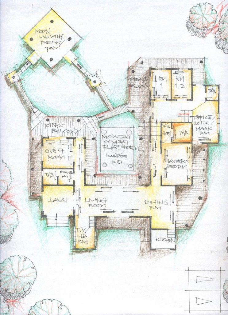 amazing traditional japanese house floor plan design idea - Traditional Japanese Home Design