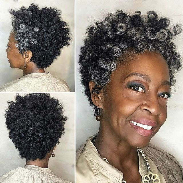 African American Salt And Pepper Hairstyles: Pin On Saniya Curl Ombre Crochet Hair Extension