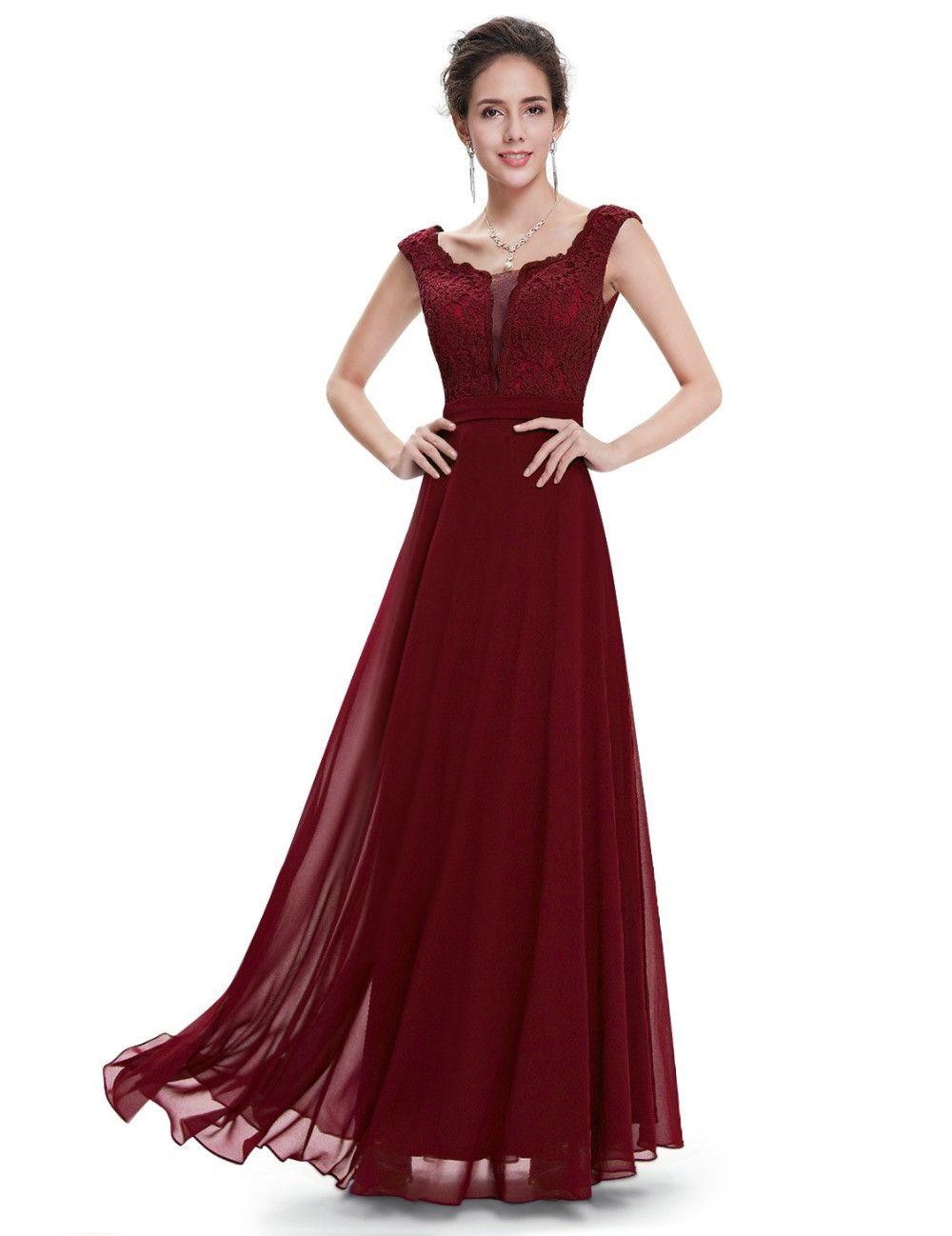 b6775d234d Modest Burgundy Prom Dresses 2017 Fitted Prom Dress Long Evening ...