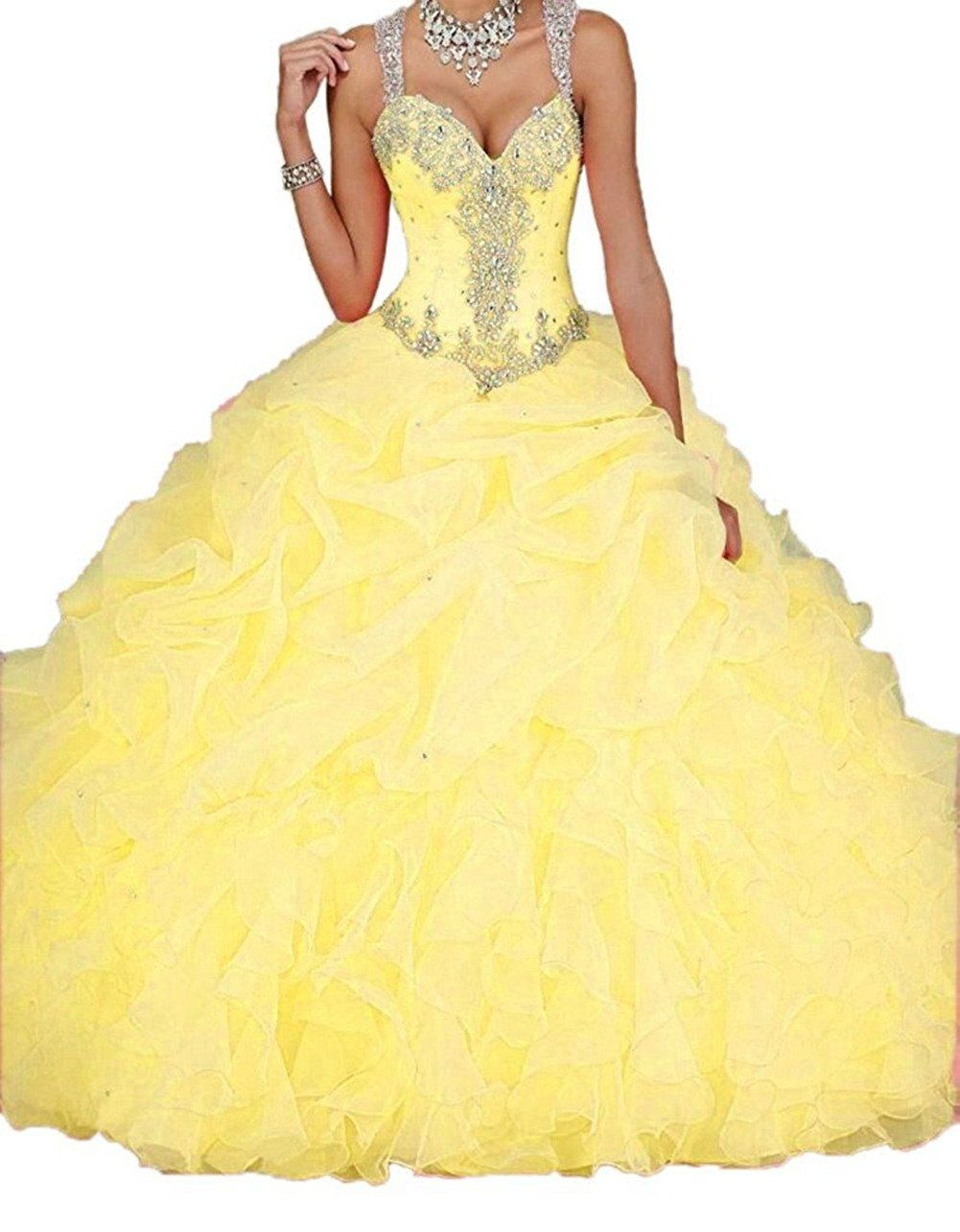 Cloverdresses crystal orange quinceanera dresses ball gown with