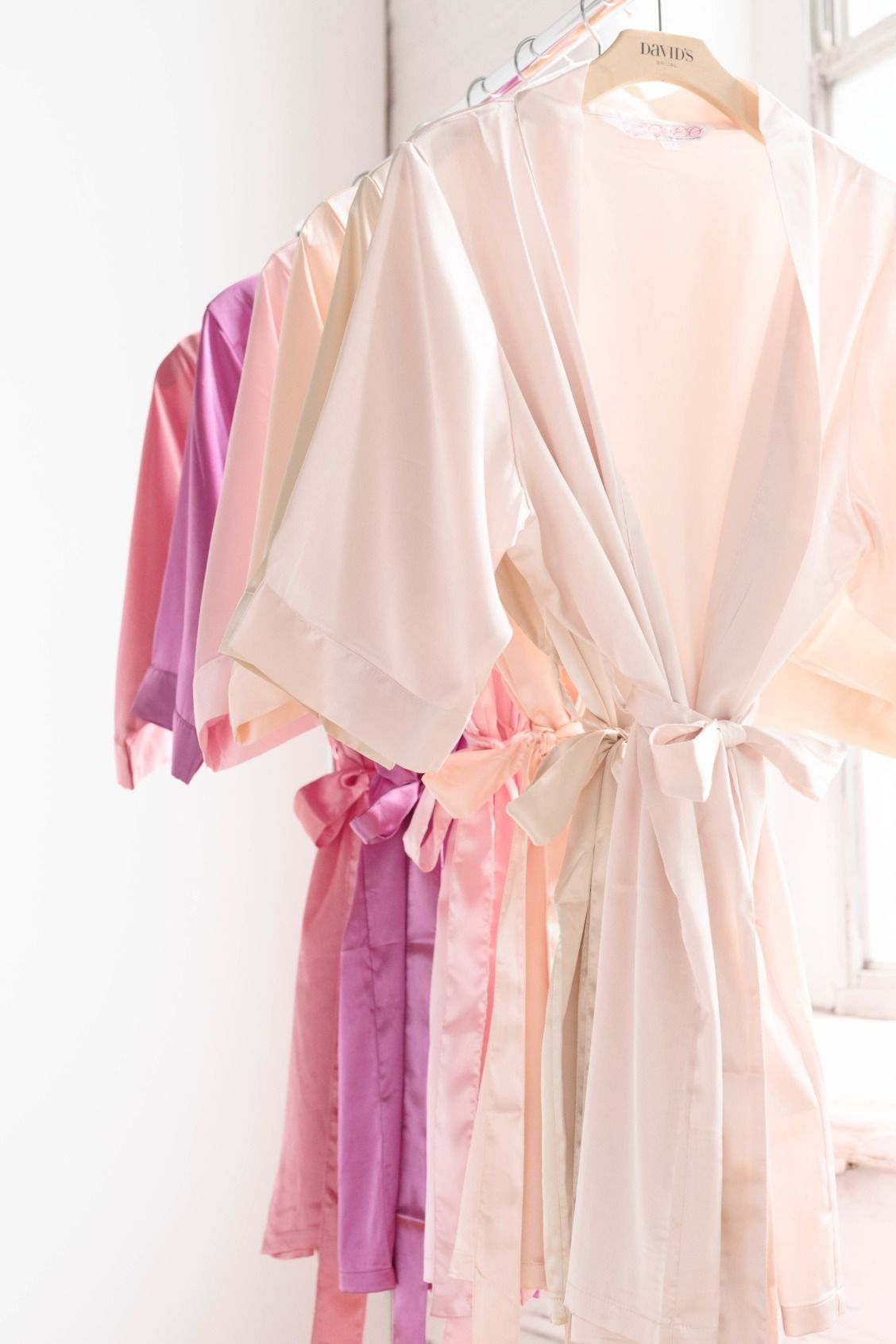 A bridesmaid gift idea? A silky robe for getting ready. Shop colors ...