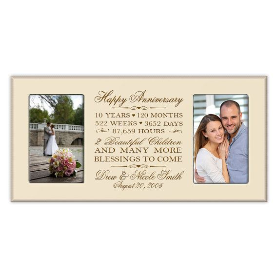 10 Year Wedding Anniversary Gift Ideas For Couple: Personalized 10th Anniversary Gift For Him,tenth