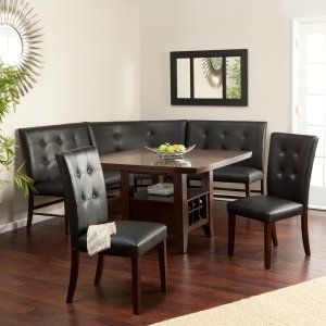 Layton Espresso 6-Piece Breakfast Nook Set - Breakfast Nooks - on hold for future & Layton Espresso 6-Piece Breakfast Nook Set - Breakfast Nooks - on ...