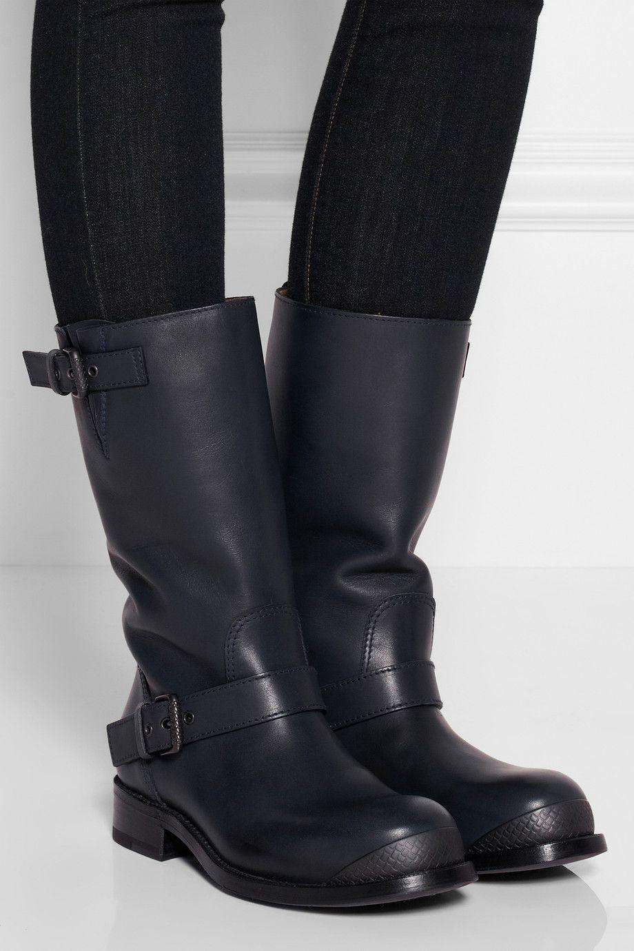 bottega veneta leather biker boots net a porter com fashion rh pinterest com