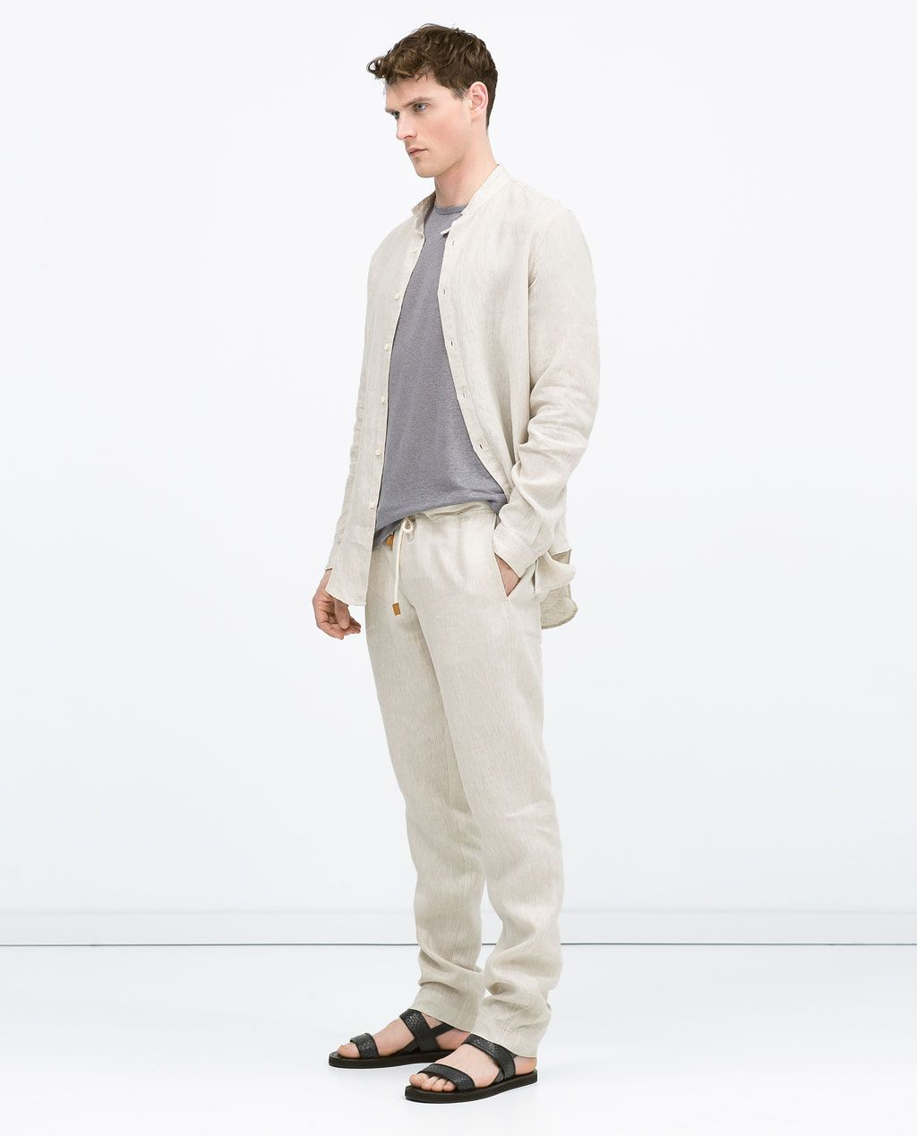 Pantalón HOMBRE lino cordón fashion 2018 ZARA Mens en 4PqwfRRg
