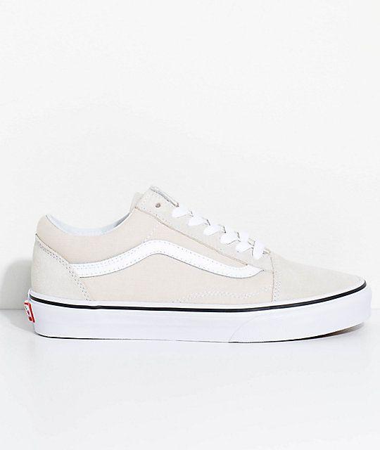 Vans SK8 HI Sneaker high birch true white Damen Schuhe Leder