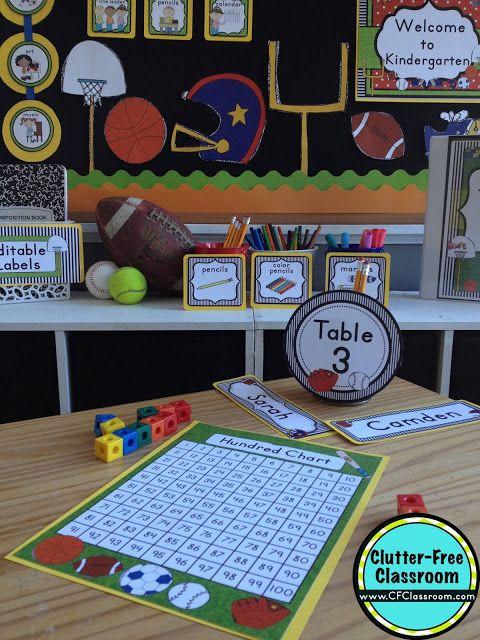 Sports Themed Classroom Ideas Amp Printable Classroom