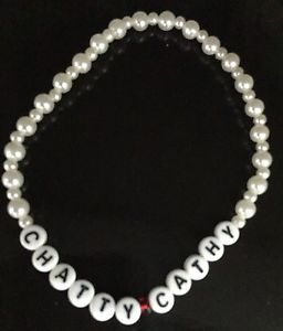 """New American Girl Doll 2015 /""""Grace /"""" 3.5/"""" Elastic Pearl Bracelet With 1 //charm"""