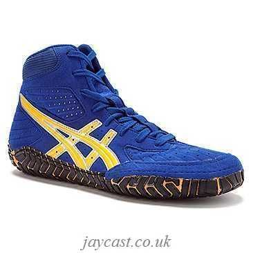 lengua maravilloso Sotavento  Image result for Asics OG Aggressor Wrestling Shoes Royal Blue Gold Yellow  for sale | Wrestling shoes, Asics wrestling shoes, Blue shoes