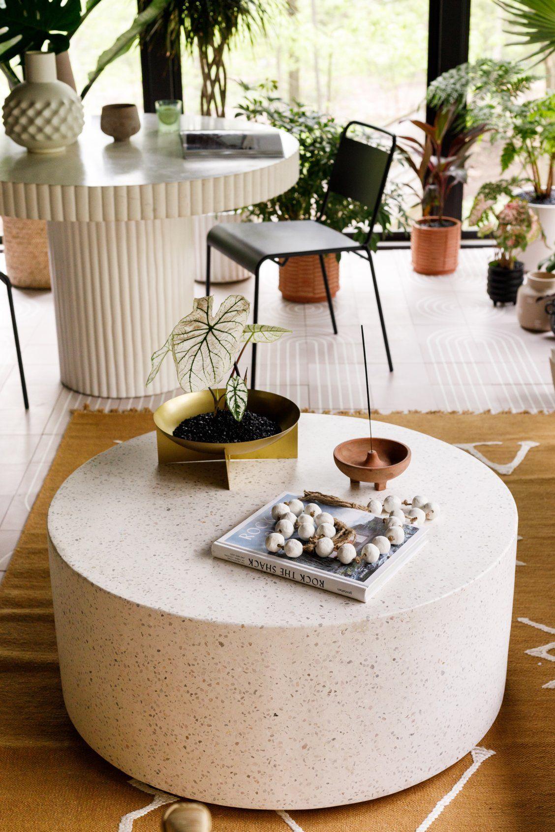 Terrazzo Coffee Table Round Coffee Table Decor Round Coffee