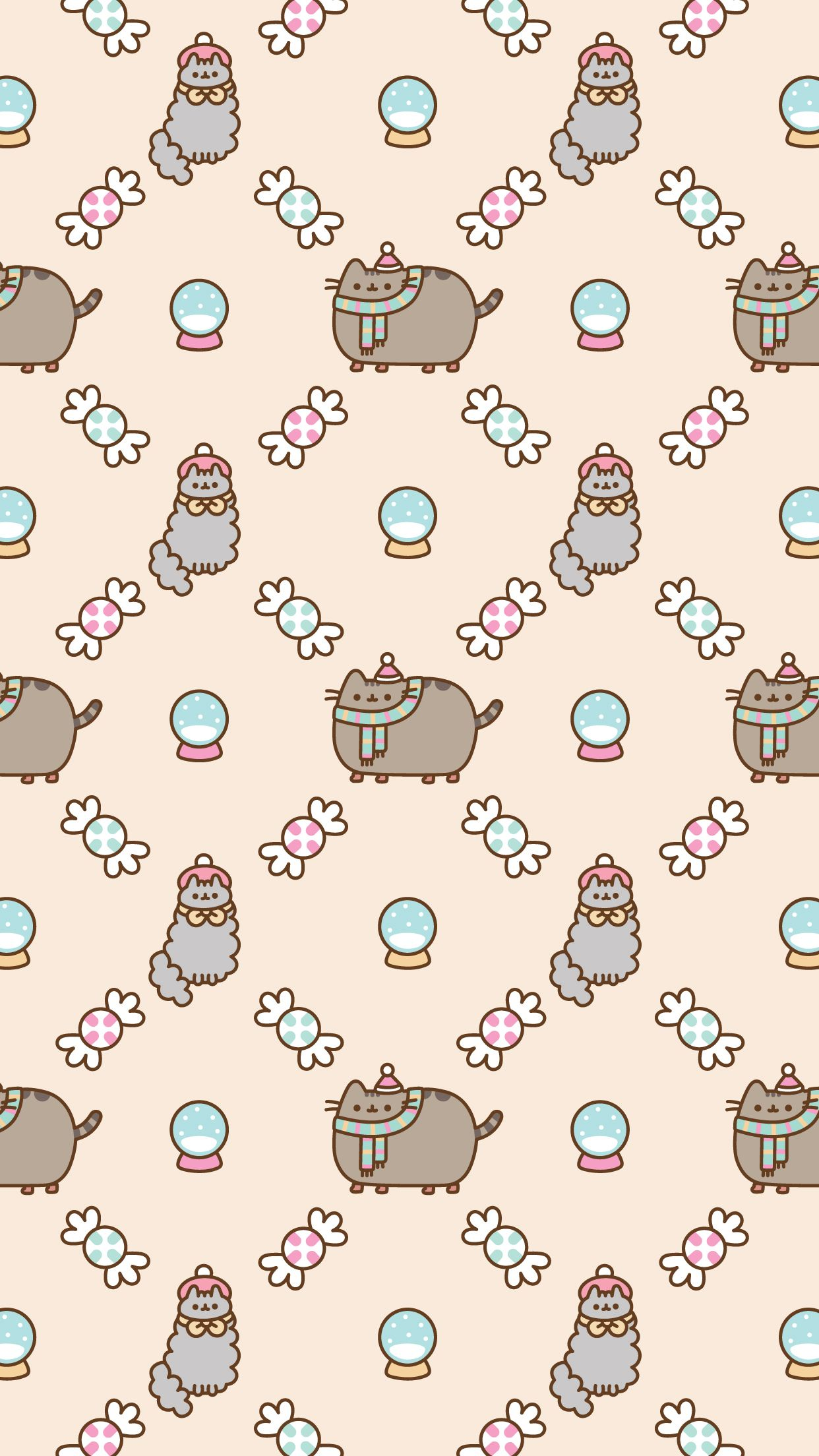 iPhone Pusheen Free Christmas Wallpaper | Pusheen | Pinterest | Free ...