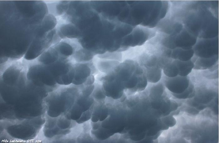 Mammatus clouds after storm