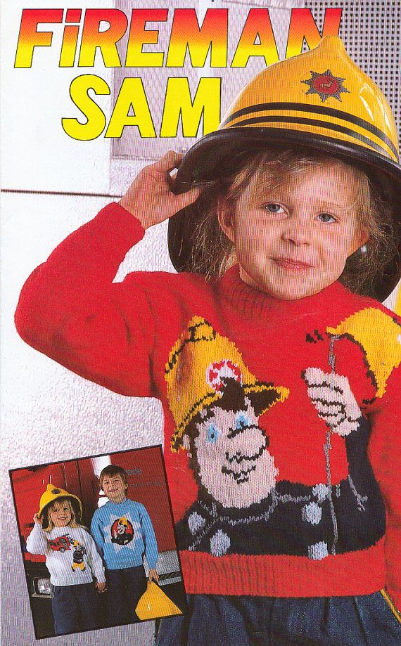 Fireman Sam vintage knitting patterns for childrens character - copy children's abc coloring pages