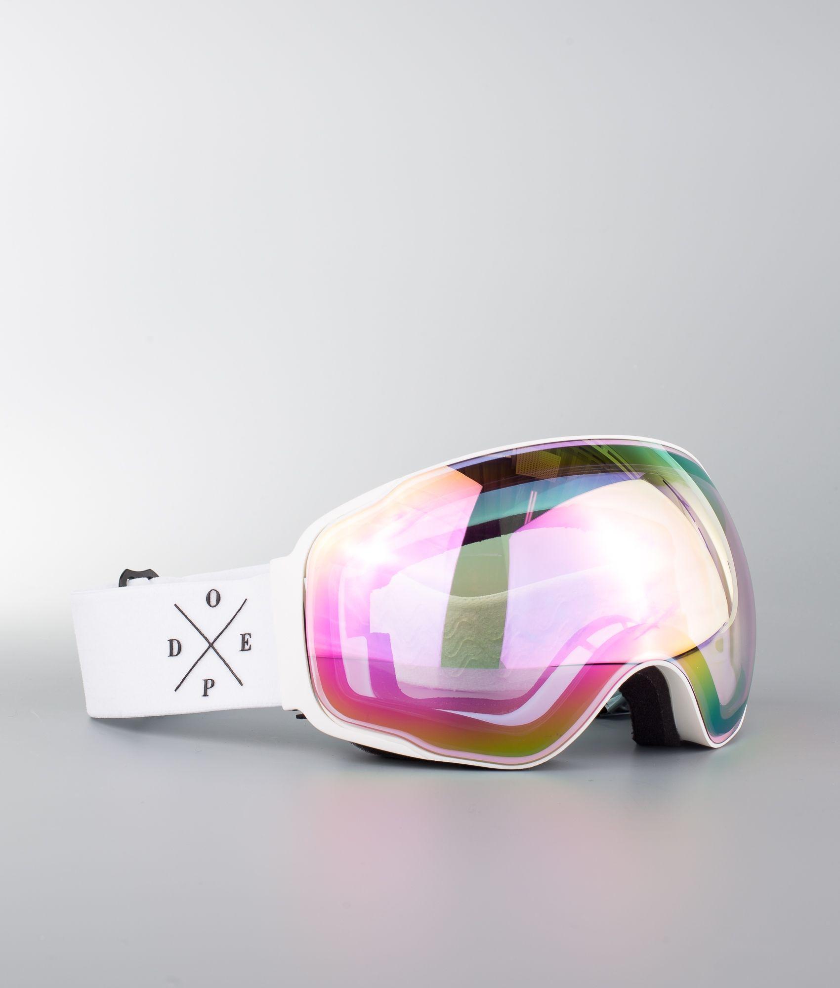 bf5f6f72e27 Dope Sphere 2X-UP Ski Goggle White W White Pink Mirror