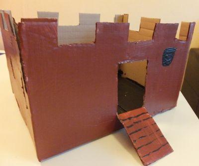 ritterburg basteln mit einem karton basteln mit. Black Bedroom Furniture Sets. Home Design Ideas