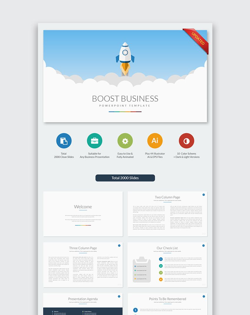 Boost business powerpoint template fong pinterest business 10 pptx files for office 2007 or higher 10 ppt files for office 97 and 5 color schemes with dark and light backgrounds total 800 slides designed based on toneelgroepblik Images