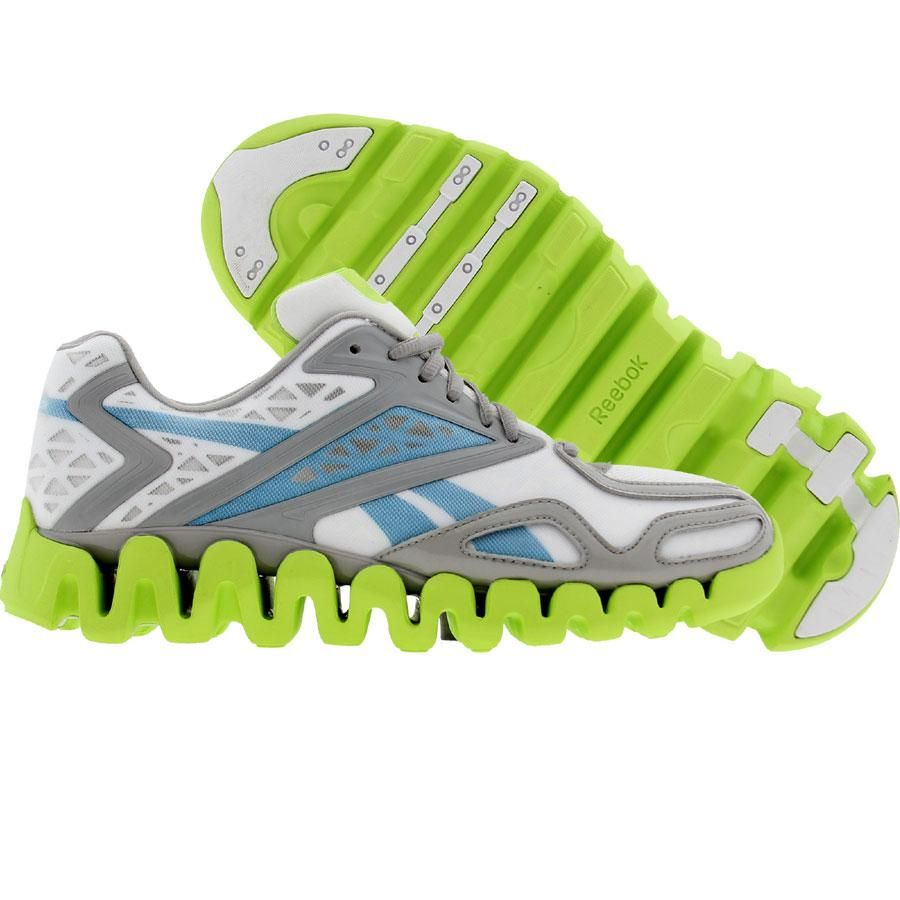 lowest price 2fe6d 8f3a3 Reebok Womens ZigTech ZigSonic (white   grey   blue   green) V51083 -  99.99
