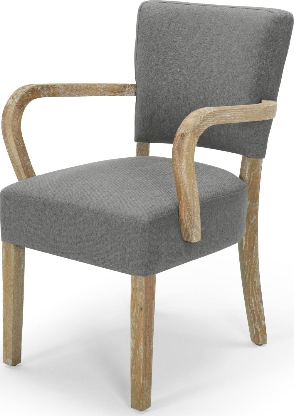 Enjoyable Carver Chair In Upholstered Graphite Grey Irvington Dailytribune Chair Design For Home Dailytribuneorg